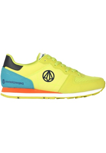 paperplanes yellow Paperplanes-1142-1 Fashion Colorful Low Top Training Sneakers Shoes US Women Size PA355SH24PHVSG_1