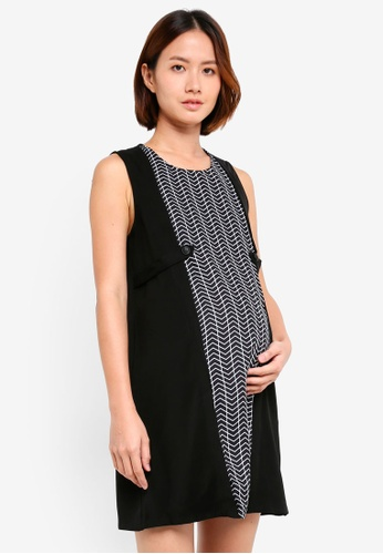 Spring Maternity black Maternity Zabrina Chevy Nursing Dress 2B8B8AA18655F3GS_1