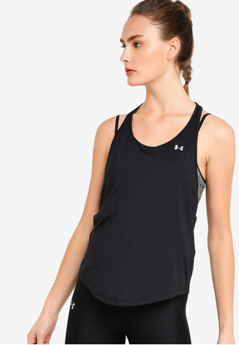 Under Armour black HG Armour Mesh Back Tank Top 0F5E3AA9A77126GS_1
