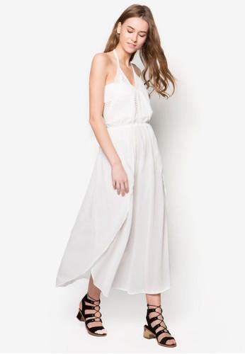 Mila 繞脖鉤針沙灘長esprit台北門市洋裝, 服飾, 服飾