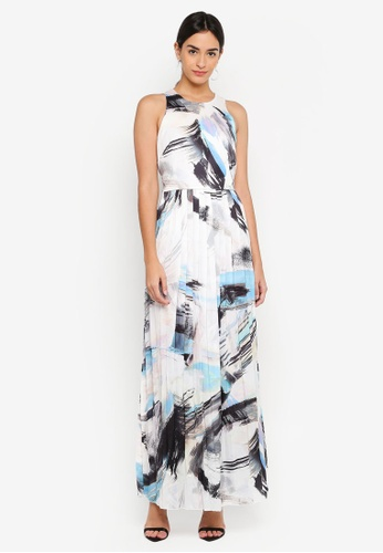 Little Mistress multi Print Placement Maxi Dress 5A06CAA65C2CF6GS_1