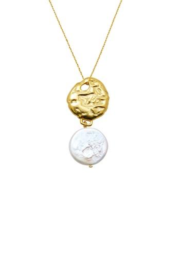 SKEDA gold Coin Pearl Necklace 380BBACDA9B488GS_1
