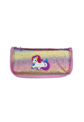 Adkidz pink Adkidz Unicorn Sparkly Pencil Case A8D86KCEC37AA2GS_1