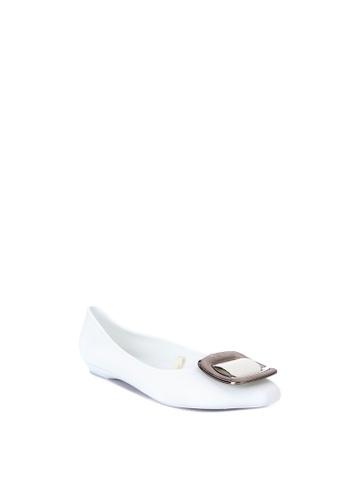 Reva white Ysabelle Jelly Ballerina Flats 6E3F9SH4715A3EGS_1