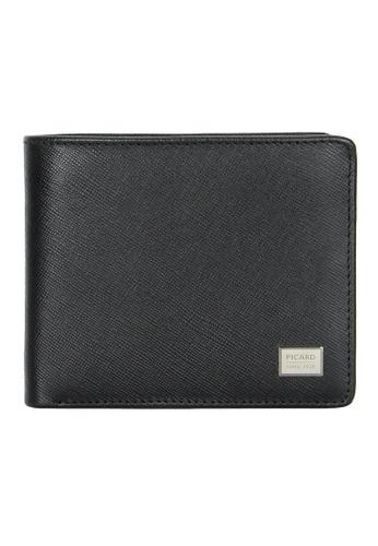 Picard black Picard Saffiano Men's Leather Flap Wallet A8153AC2E2DE7AGS_1