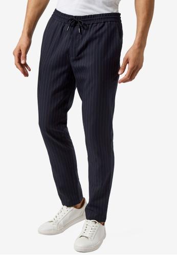 Burton Menswear London blue Striped Skinny Joggers 40708AAB484203GS_1