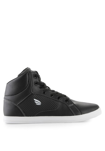 Homypro black Sugar High Cut Sneakers HO843SH38MSRID_1