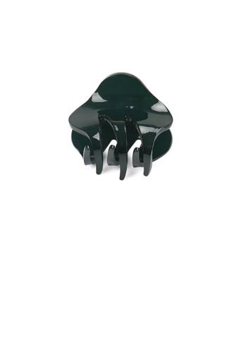 Glamorousky silver Simple and Cute Dark Green Geometric Small Hair Claw 5CC75AC8DDFE75GS_1