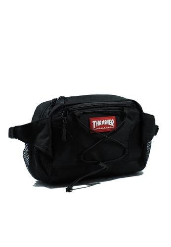 THRASHER black THRASHER COATED RIPSTOP HOMETOWN WAIST BAG 651F2AC14ADC8DGS_1