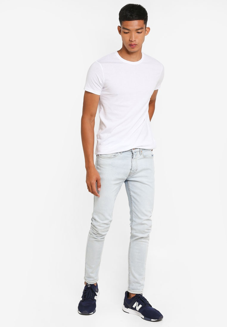 Solid Shirt White Basic Solid Rock Cotton T XqxUBCTw