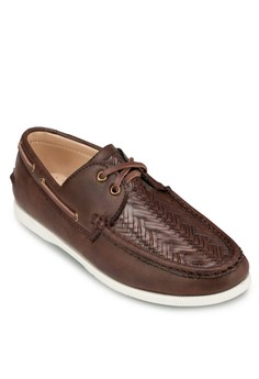 Weave Detail Boat Shoes