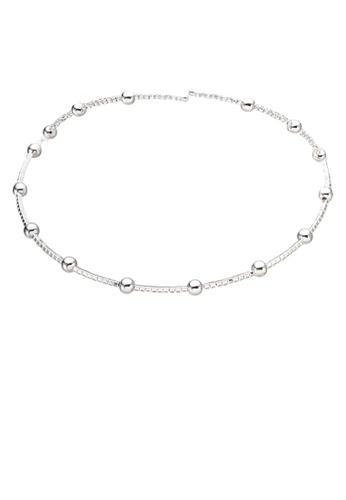 Dandelion silver Rhinestones Ball Choker Necklace DA944AC0SO67MY_1