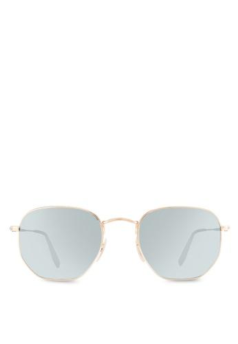 Ray-Ban gold Hexagonal Flat Lenses RB3548N Sunglasses RA896GL99CYIMY_1