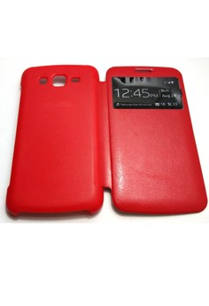 S-View Flip Cover for Samsung Grand 2 (Red)