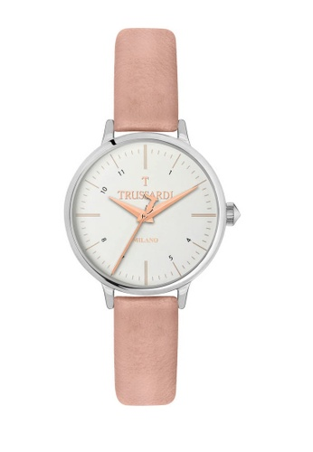 Trussardi pink T Sun Quartz Watch R2451126505 Pink Leather Strap AA113AC53FF903GS_1