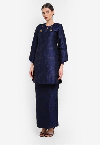 Rizalman for Zalora blue Ashwa Modern Kurung RI909AA0SEYIMY_1