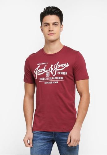 Jack & Jones red Jorslack Crew Neck Tee 0A802AA8FE1589GS_1