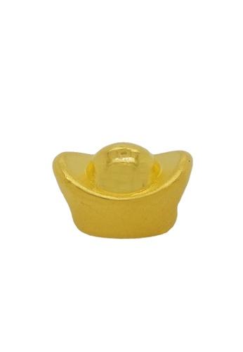 LITZ gold [Free Bracelet] LITZ 999 (24K) Gold Ingot Charm 金元宝 EPC0132 (0.89g) A806BAC7D61746GS_1