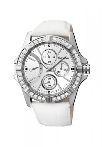 Seiko white Jam Tangan Wanita Seiko Original Garansi Resmi Strap Leather Silver SRLZ89 SRLZ89P1 Silver 983A9ACD0E8EEEGS_1