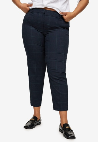 Violeta by MANGO blue Plus Size Recycled Cotton Straight Trousers D3235AA71A8571GS_1