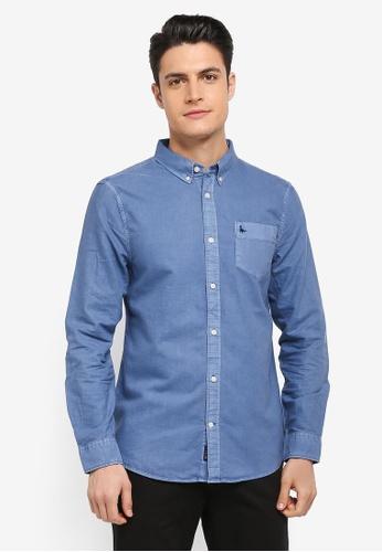 Jack Wills blue Atley Lw Oxford Shirt 82C91AA767A4EEGS_1