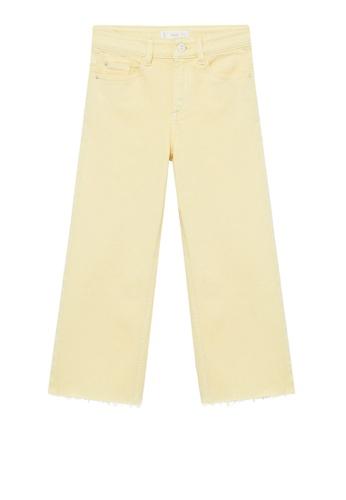 MANGO KIDS yellow High Waist Culotte Jeans 43C37KA24A04D2GS_1