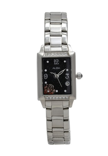 Alba silver ALBA Jam Tangan Wanita - Silver Black - Stainless Steel - AXT395 3179AAC5279775GS_1
