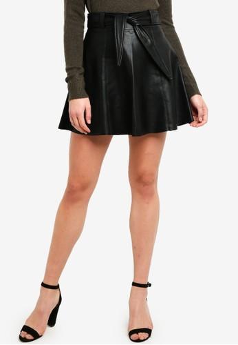 Vero Moda black Eldora Juhuu Faux Leather Skirt 0D9EEAA6BA17ACGS_1