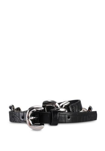 Pieces black Nille Waist Belt C5923AC326E6FFGS_1
