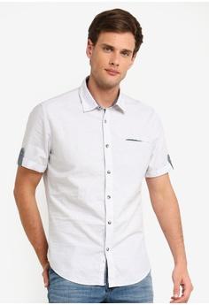 7b1a0a8bf ESPRIT white Woven Short Sleeve Shirt F0C63AA9366F5EGS 1