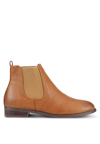 addicts anonymous brown Cadelaria Brush Chelsea Boots AD479SH0RL65MY_1