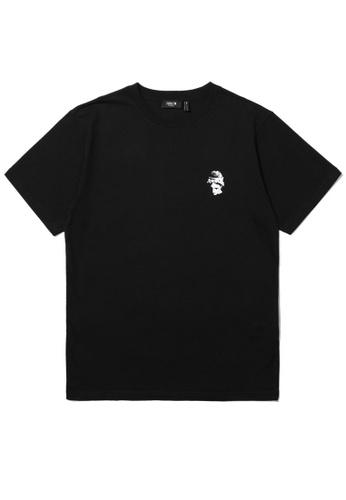 Fivecm black Sculpture logo tee F28E4AA1F6B222GS_1