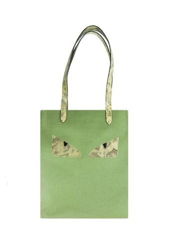 Jacque green Camelia Tote Olive Shoulder Bag JA262AC88SJNMY_1
