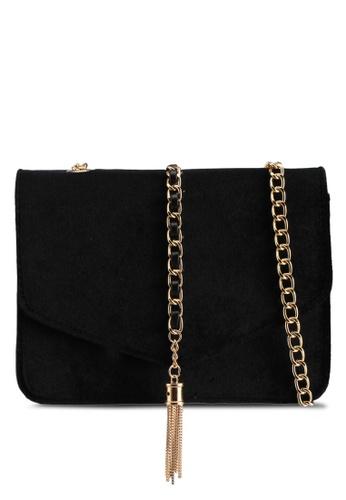 Zalia black Velvet Occasion Bag 8D605ACC251922GS_1