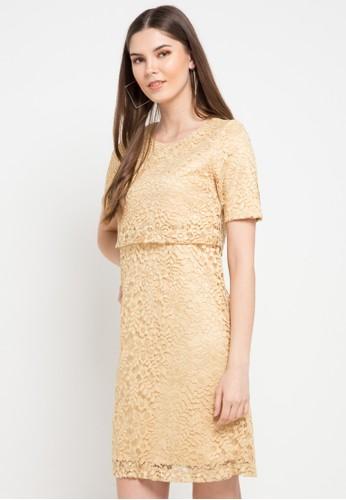 EPRISE gold Laney Dress 830FBAA28CA67EGS_1