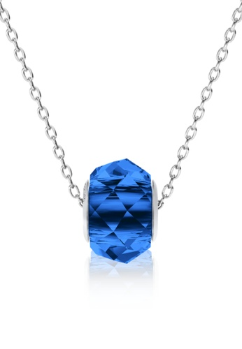 Her Jewellery blue BeCharmed Briolette Bead Pendant (Dark Blue) - Made with premium grade crystals from Austria FA050AC3AD921BGS_1