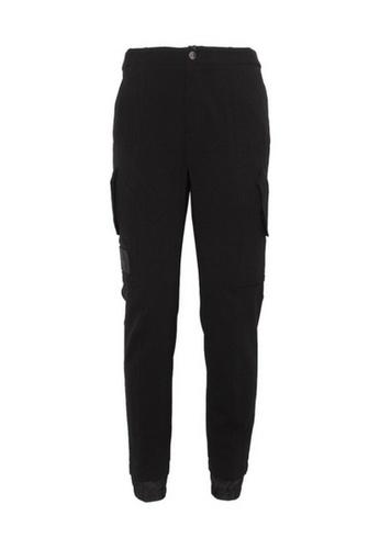 Versace black Versace Two Flat Pockets On Leg Pants in Black 51044AA843DB8DGS_1