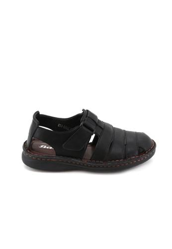 BATA Bata Men Black Sandals - 8616402 8121ASHDC99E49GS_1