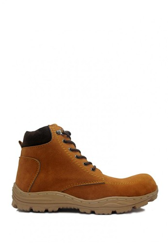 D-Island brown D-Island Shoes Safety Boots Rider Suede Leather Soft Brown DI594SH28SJBID_1
