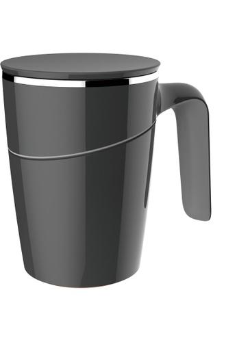 Artiart black Grace Suction Mug (Black) Design By ArtiArt 4DCE7HL463777BGS_1