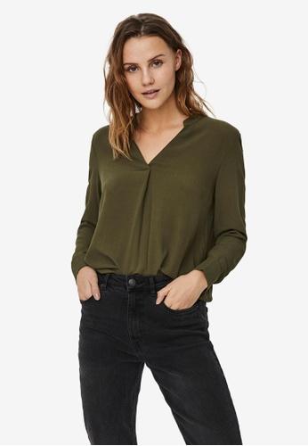 Vero Moda green Esther Top 6DBDCAA951710BGS_1