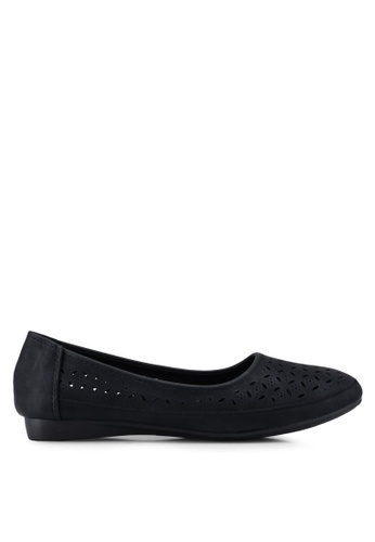 Louis Cuppers black Perforated Ballerina Flats EDF6FSH241D0F2GS_1