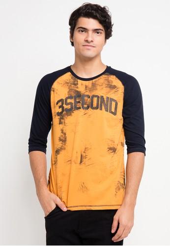 3SECOND yellow 3Sco Men Tshirt 0711 3S395AA0VB58ID_1