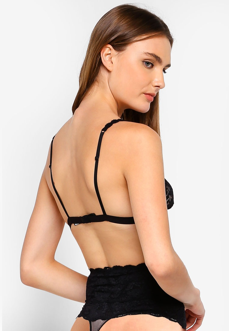 Bralette Triangle Never Black Soft Cosabella Dreamie Never Say qwAc847
