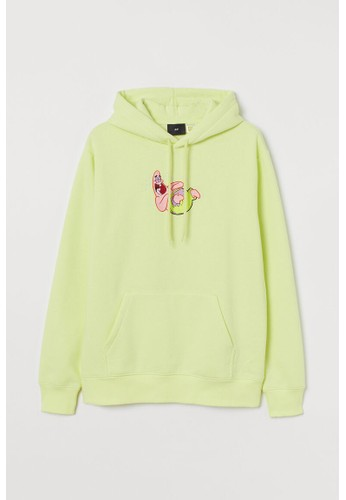 H&M yellow Regular Fit Hoodie 28921AA6325A55GS_1