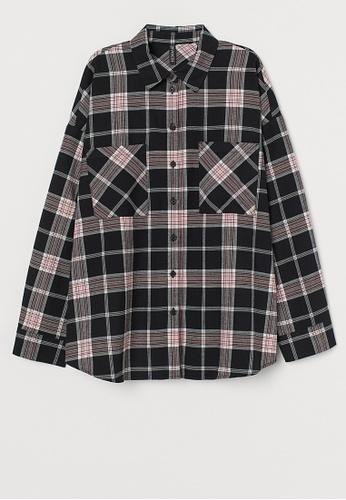 H&M black Corduroy Shirt 6D797AADC1399CGS_1