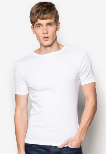羅紋短袖TEE, 服飾, zalora 心得 ptt素色T恤
