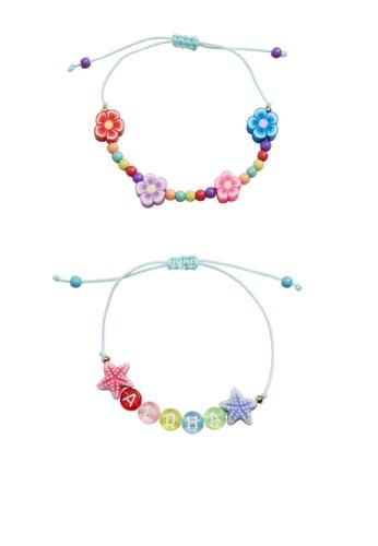 MANGO KIDS green 2-Pack Beads Bracelets 33934KCA1EB76DGS_1