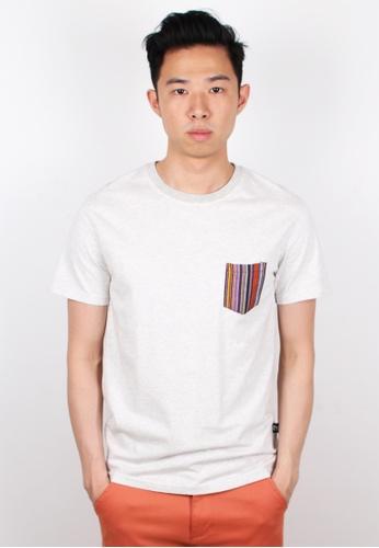 Moley white Aztec Pocket T-Shirt MO329AA0FI4XSG_1