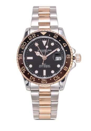 Stuhrling Original silver Meridian 3965 Watch 3627CAC1468B1AGS_1